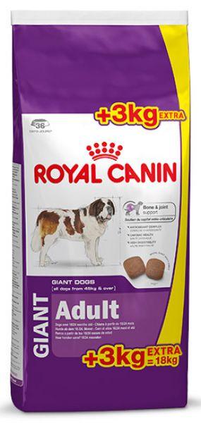 ROYAL CANIN GIANT ADULT HONDENVOER #95;_15 KG + 3 KG GRATIS