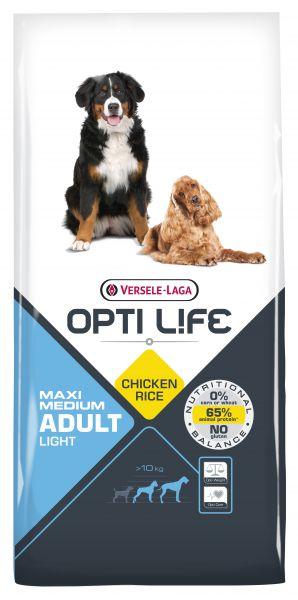 OPTI LIFE ADULT LIGHT MEDIUM/MAXI HONDENVOER #95;_12,5 KG