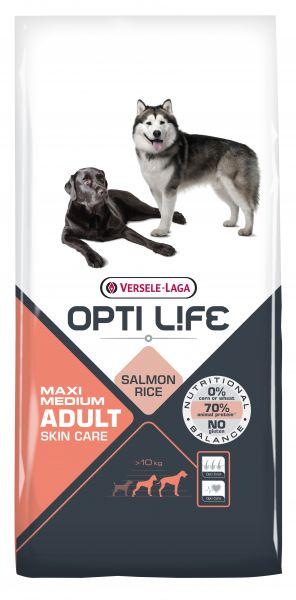 OPTI LIFE ADULT SKIN CARE MEDIUM/MAXI HONDENVOER #95;_12,5 KG