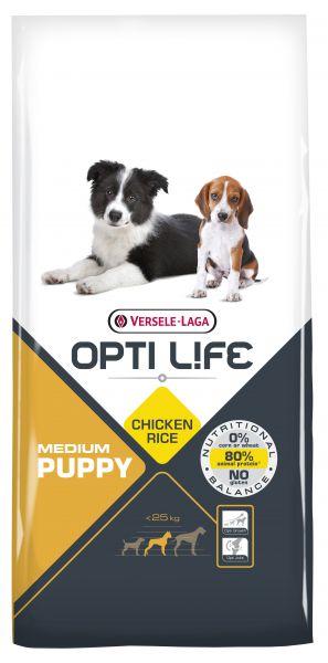 OPTI LIFE PUPPY MEDIUM HONDENVOER #95;_12,5 KG