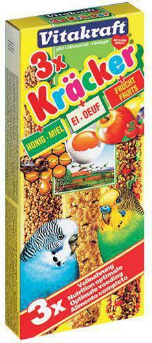 VITAKRAFT PARKIET KRACKER HONING/FRUIT/EI #95;_3 IN 1
