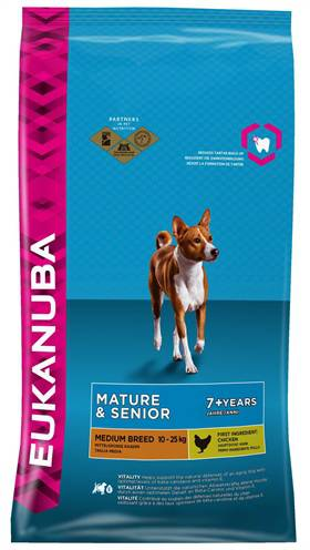 EUKANUBA DOG MATURE/SENIOR MEDIUM BREED HONDENVOER #95;_3 KG