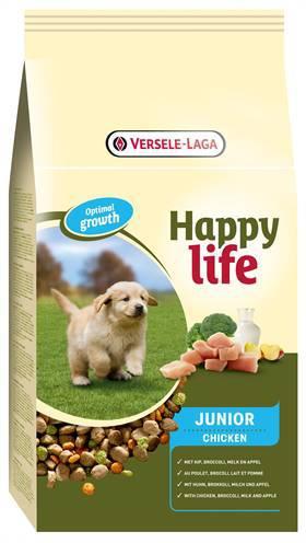 HAPPY LIFE JUNIOR CHICKEN HONDENVOER #95;_10 KG
