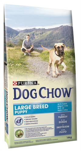DOG CHOW PUPPY LARGE BREED KALKOEN HONDENVOER #95;_14 KG