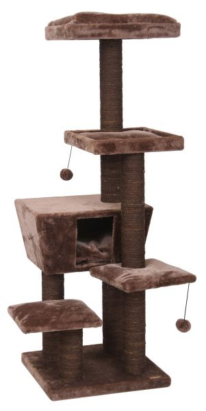 EBI KRABPAAL CAT TREE TREND NORTH DAKOTA DONKERBRU #95;_48X48X141 CM