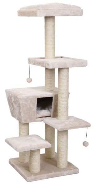EBI KRABPAAL CAT TREE TREND NORTH DAKOTA CREME #95;_48X48X141 CM
