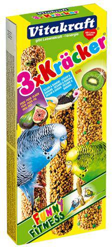 VITAKRAFT PARKIET KRACKER VIJGEN/BANAAN-SESAM/KIWI #95;_3 IN 1