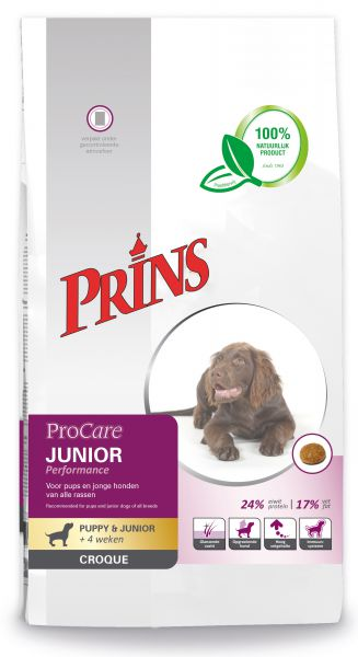 PRINS PROCARE CROQUE JUNIOR PERFORMANCE HONDENVOER #95;_10 KG