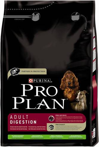 PRO PLAN DOG ADULT DIGESTION LAM/RIJST HONDENVOER #95;_3 KG