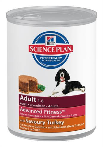 HILL'S SCIENCE PLAN CANINE BLIK ADULT KALKOEN HONDENVOER #95;_370 GR