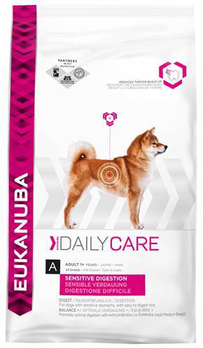 EUKANUBA DOG DAILY CARE SENSITIVE DIGESTION HONDEN HONDENVOER #95;_2,5 KG