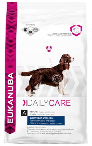 EUKANUBA DOG DAILY CARE OVERWEIGHT STERILIZED HOND HONDENVOER #95;_12,5 KG