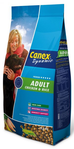 CANEX ADULT CHICKEN/RICE HONDENVOER #95;_12,5 KG