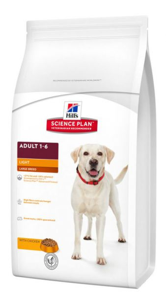 HILL'S SCIENCE PLAN CANINE ADULT LIGHT LARGE BREED HONDENVOER #95;_12 KG