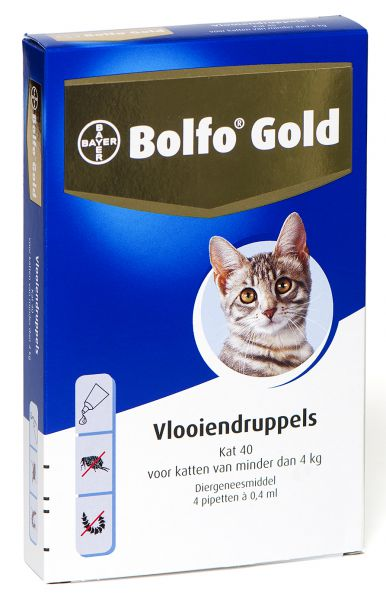 BOLFO GOLD KAT VLOOIENDRUPPELS #95;_40 4 PIPET
