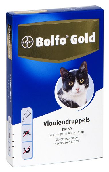 BOLFO GOLD KAT VLOOIENDRUPPELS #95;_80 4 PIPET