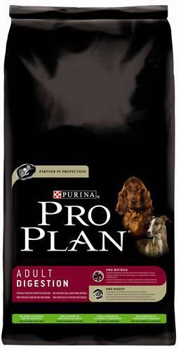 PRO PLAN DOG ADULT DIGESTION LAM/RIJST HONDENVOER #95;_14 KG