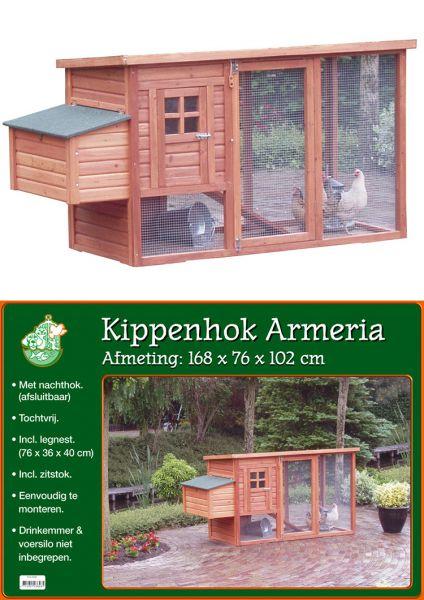 KIPPENHOK MET NACHTVERBLIJF BRUIN ARMERIA #95;_
