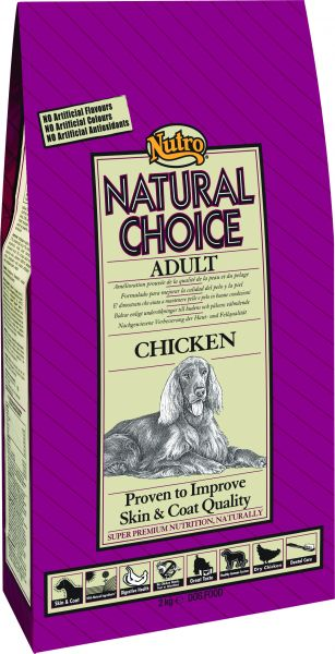 NUTRO CHOICE DOG ADULT KIP/RIJST HONDENVOER #95;_12 KG