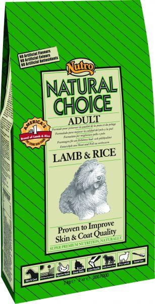 NUTRO CHOICE DOG ADULT LAM/RIJST HONDENVOER #95;_12 KG