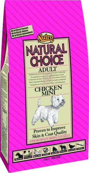 NUTRO CHOICE DOG ADULT MINI KIP/RIJST HONDENVOER #95;_2 KG