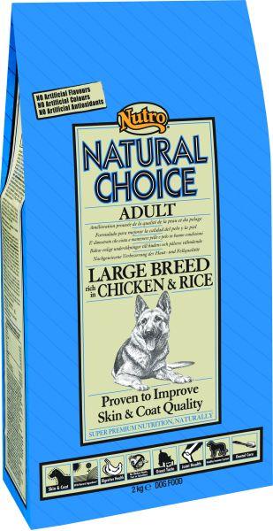 NUTRO CHOICE DOG ADULT LARGE BREED HONDENVOER #95;_12 KG