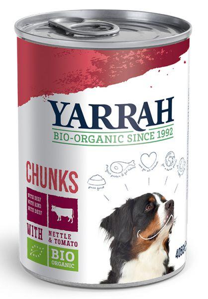 YARRAH DOG BLIK BROKJES VLEES IN SAUS MET BRANDNET HONDENVOER #95;_405 GR
