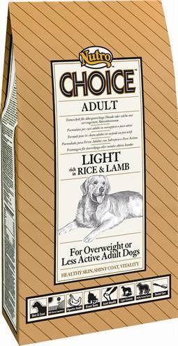 NUTRO CHOICE DOG ADULT LIGHT LAM/RIJST HONDENVOER #95;_10 KG