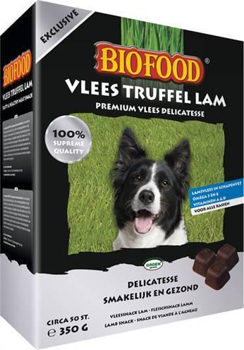 BIOFOOD VLEESTRUFFEL LAM #95;_350 GR