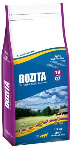 BOZITA LIGHT KIP/RIJST HONDENVOER #95;_1,5 KG