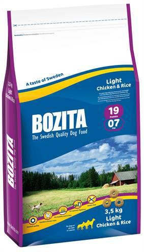 BOZITA LIGHT KIP/RIJST HONDENVOER #95;_3,5 KG