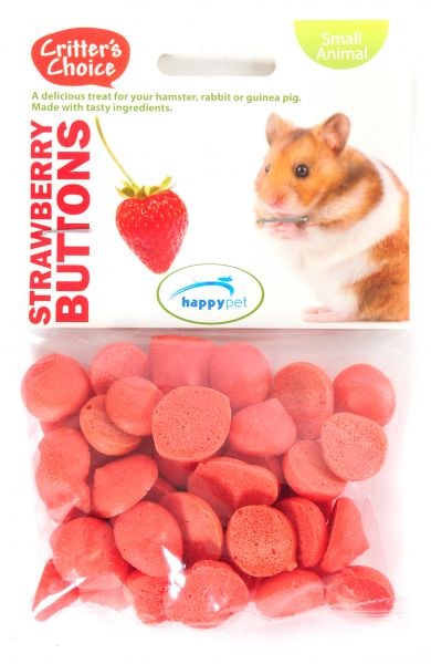 CRITTER'S CHOICE STRAWBERRY BUTTONS #95;_40 GR