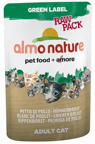 ALMO NATURE CAT GREEN LABEL KIPFILET KATTENVOER #95;_55 GR