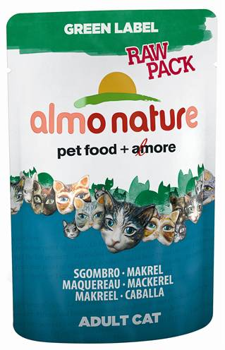 ALMO NATURE CAT GREEN LABEL MAKREEL KATTENVOER #95;_55 GR