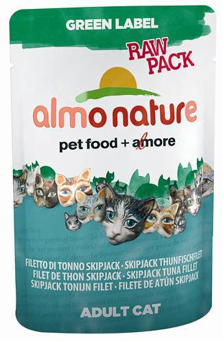 ALMO NATURE CAT GREEN LABEL GESTREEPTE TONIJNFILET KATTENVOER #95;_55 GR