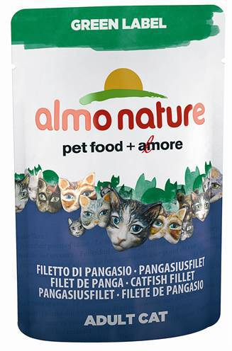ALMO NATURE CAT GREEN LABEL MEERVALFILET KATTENVOER #95;_55 GR