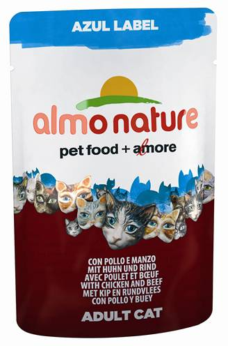 ALMO NATURE CAT AZUL LABEL KIP/RUND KATTENVOER #95;_70 GR