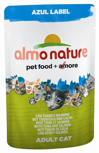 ALMO NATURE CAT AZUL LABEL TONIJN/ZALM KATTENVOER #95;_70 GR