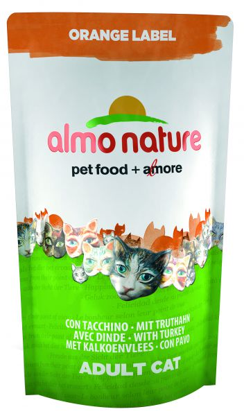 ALMO NATURE CAT DROOG ORANGE LABEL KALKOEN KATTENVOER #95;_750 GR