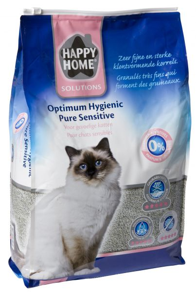 HAPPY HOME SOLUTIONS OPTIMUM HYGIENIC PURE SENSITI KATTENBAKVULLING #95;_12 LTR