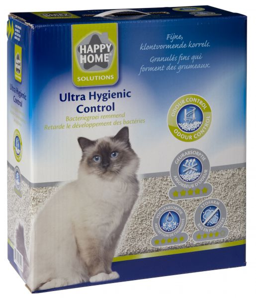 HAPPY HOME SOLUTIONS ULTRA HYGIENIC CONTROL KATTENBAKVULLING #95;_10 LTR