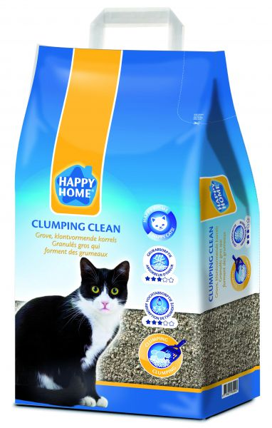 HAPPY HOME SOLUTIONS CLUMPING CLEAN KATTENBAKVULLING #95;_20 LTR