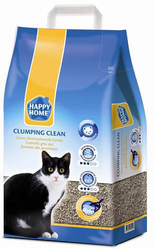 HAPPY HOME SOLUTIONS CLUMPING CLEAN KATTENBAKVULLING #95;_10 LTR