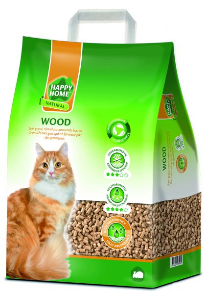 HAPPY HOME NATURAL WOOD KATTENBAKVULLING #95;_10 LTR