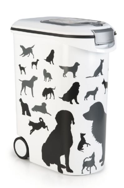 CURVER VOEDSELCONTAINER OPDRUK HOND SILHOUETTE #95;_54 LTR