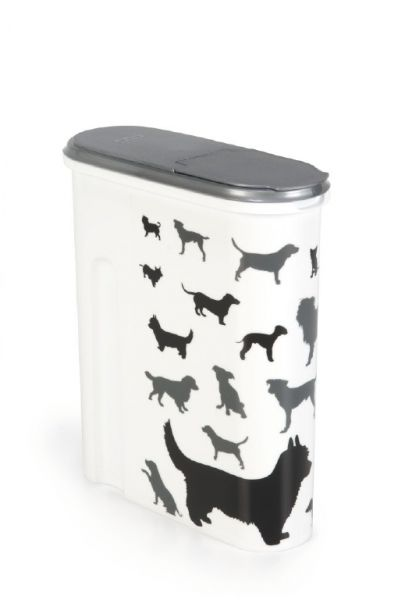 CURVER VOEDSELCONTAINER OPDRUK HOND SILHOUETTE #95;_4,5 LTR