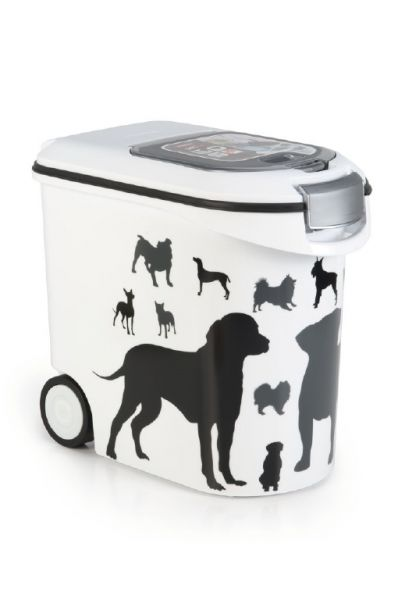 CURVER VOEDSELCONTAINER OPDRUK HOND SILHOUETTE #95;_35 LTR