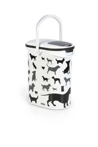 CURVER VOEDSELCONTAINER OPDRUK HOND SILHOUETTE #95;_10 LTR
