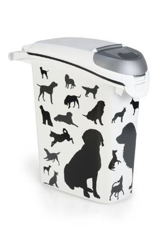 CURVER VOEDSELCONTAINER OPDRUK HOND SILHOUETTE STA #95;_23 LTR