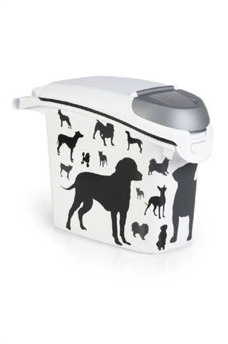 CURVER VOEDSELCONTAINER OPDRUK HOND SILHOUETTE STA #95;_15 LTR